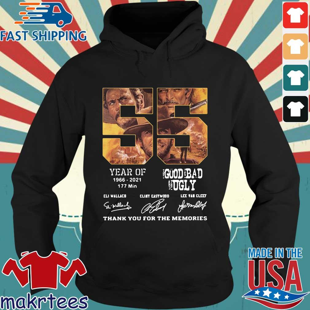 55 years of 1966 2021 177 min the good the bad and the ugly signatures thank you for the memories s Hoodie den