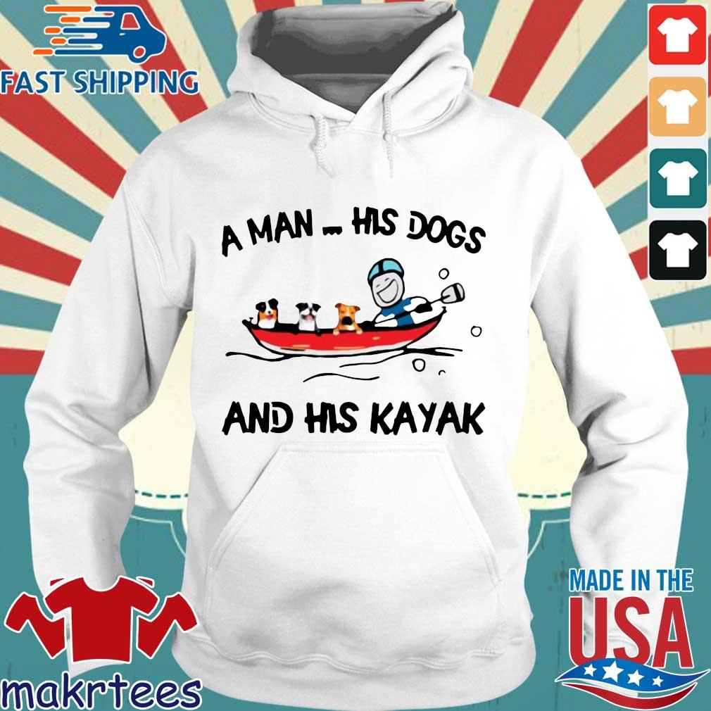 A man his dogs and his kayak s Hoodie trang