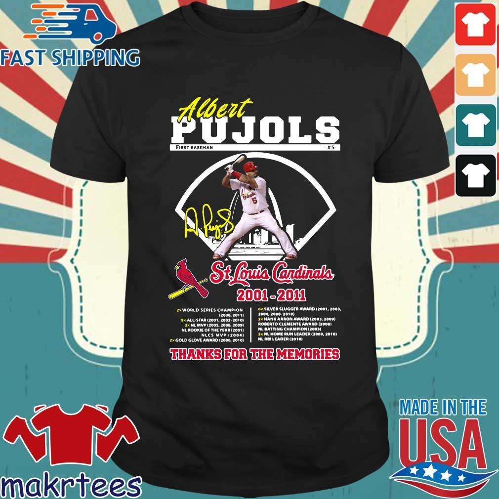 Albert Pujols St Louis Cardinals 2001-2011 thank you for the memories signature shirt