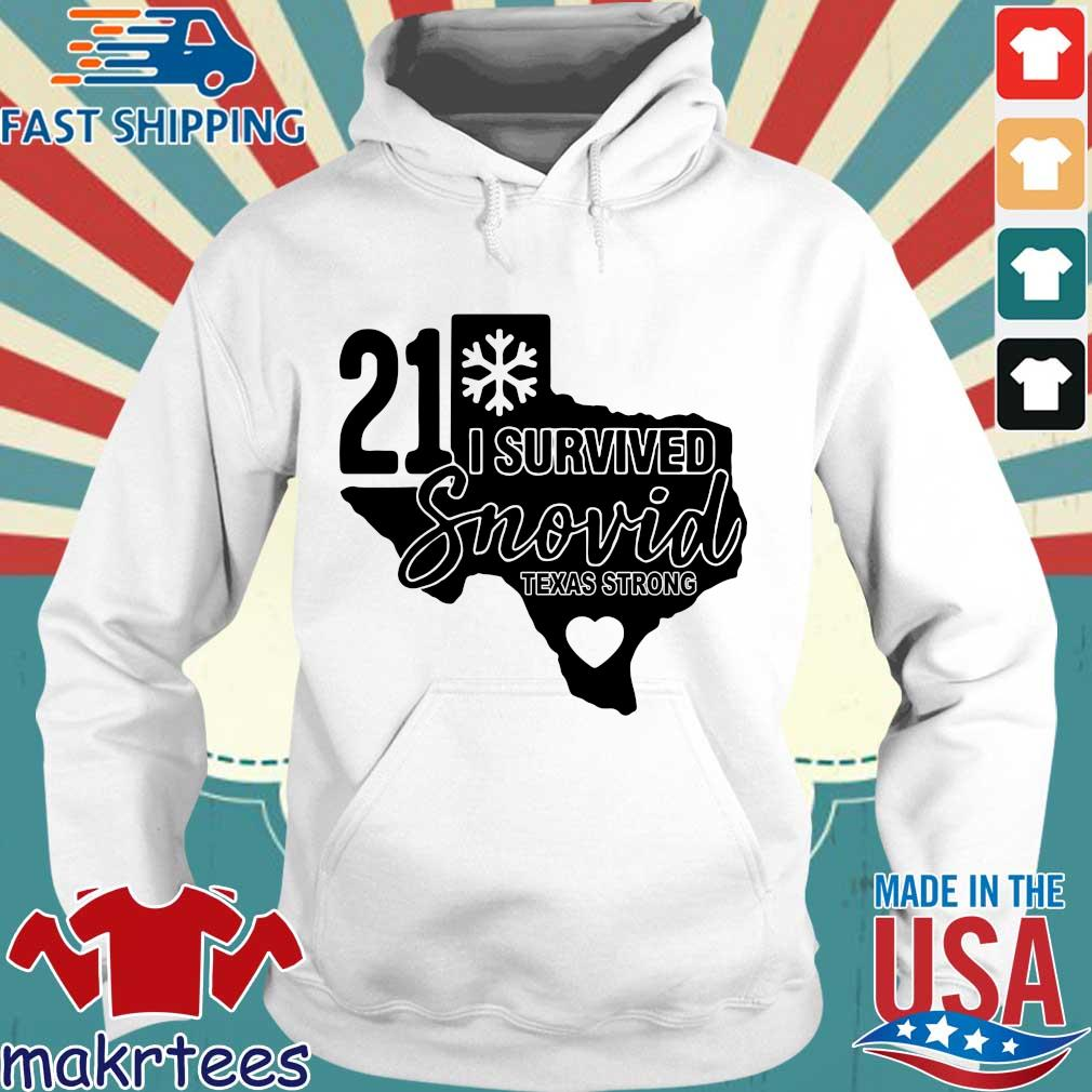 Snowstorm 2021 I survived snovid Texas strong s Hoodie trang