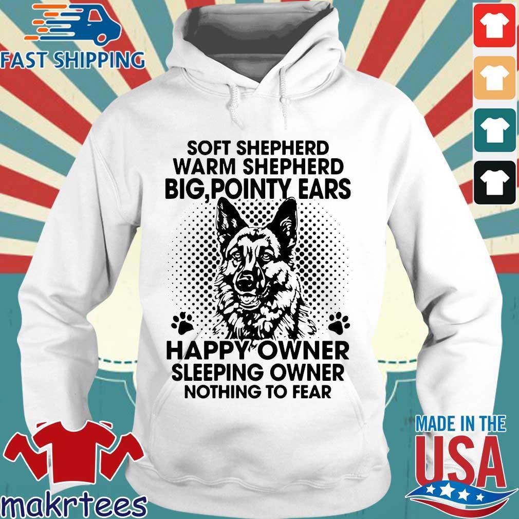 Soft shepherd warm shepherd dog pointy ears happy owner sleeping s Hoodie trang