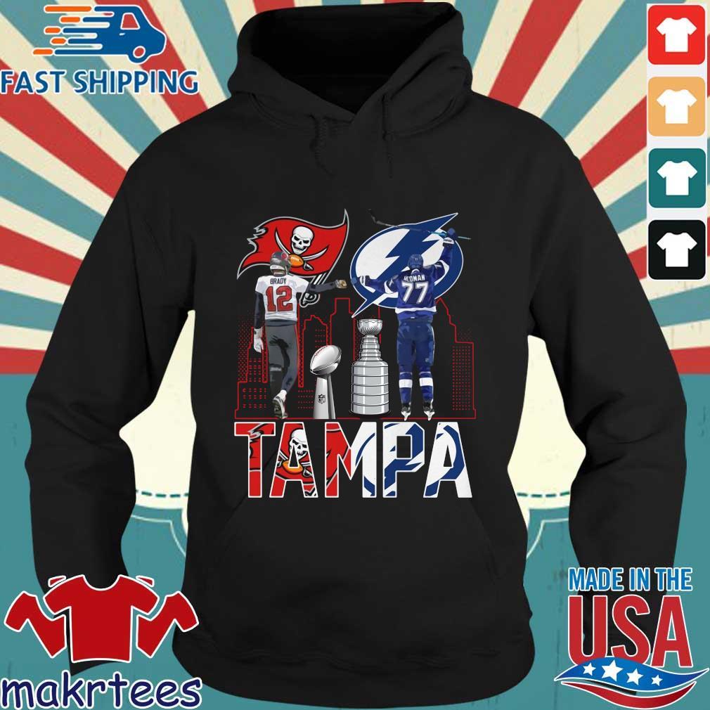 Tampa Buccaneers Tom Brady and Tampa Bay Lightning Hedman s Hoodie den