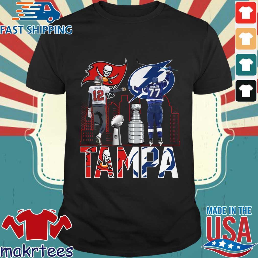 Tampa Buccaneers Tom Brady and Tampa Bay Lightning Hedman shirt