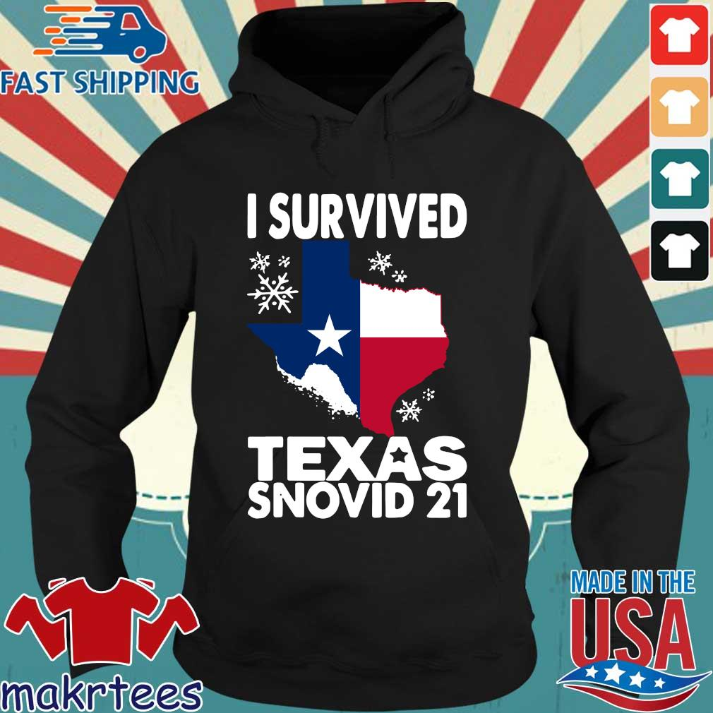 Texas flag I survived Texas snovid 21 s Hoodie den