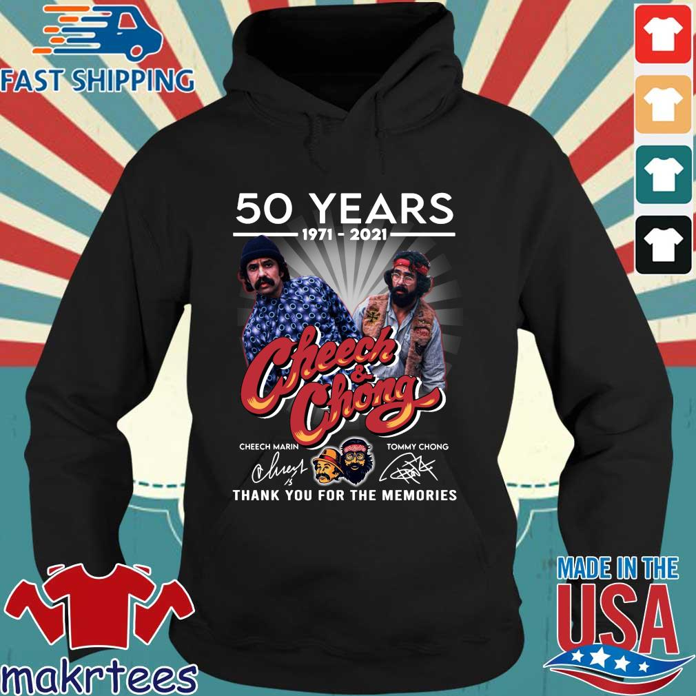 50 years 1971 2021 Cheech and Chong signatures thank you for the memories Hoodie den