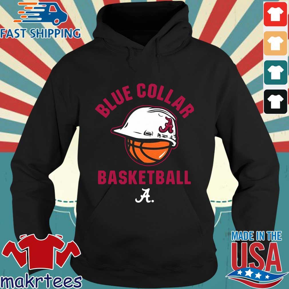 Alabama Crimson Tide blue collar basketball 2021 Hoodie den