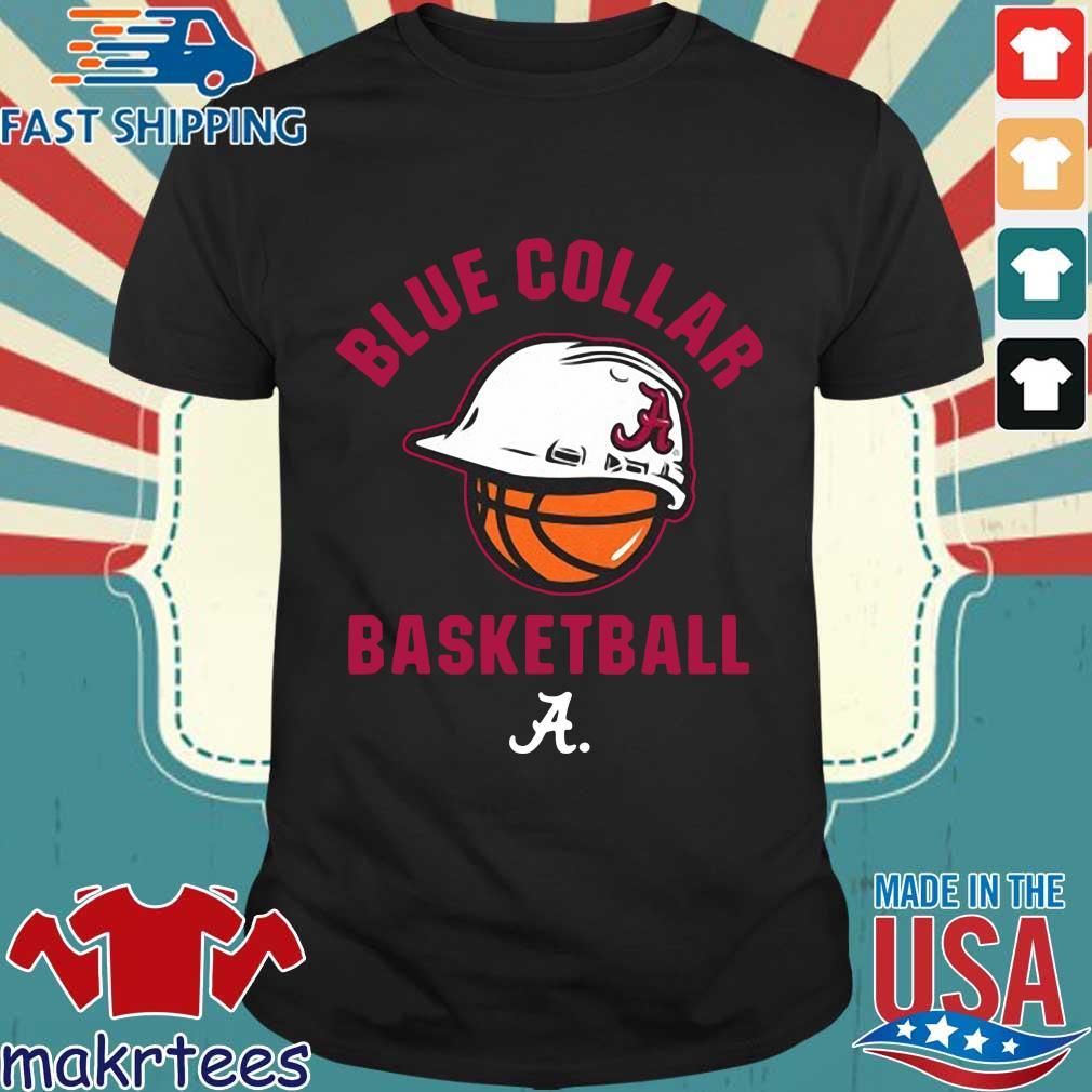 Alabama Crimson Tide blue collar basketball 2021 shirt