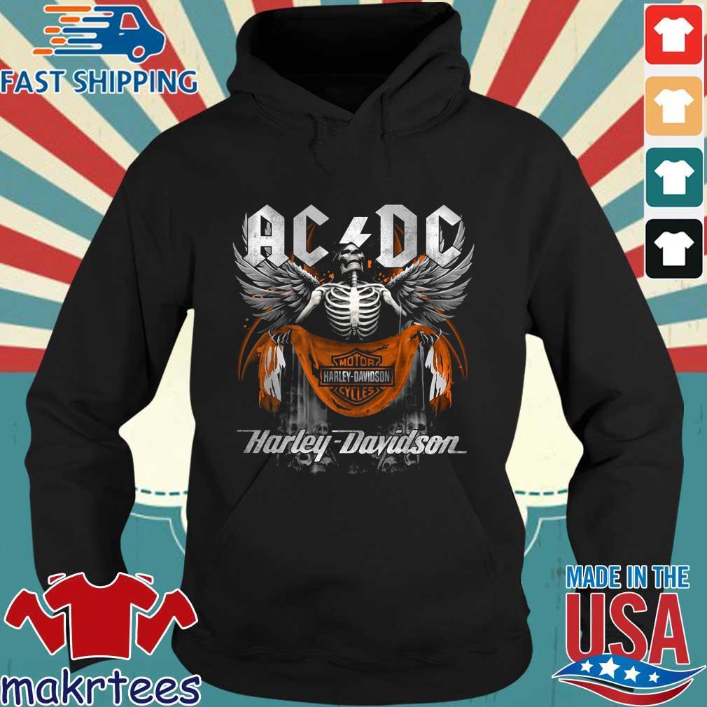 Angel Skeleton AC DC Motor Harley Davidson Cycles Hoodie den