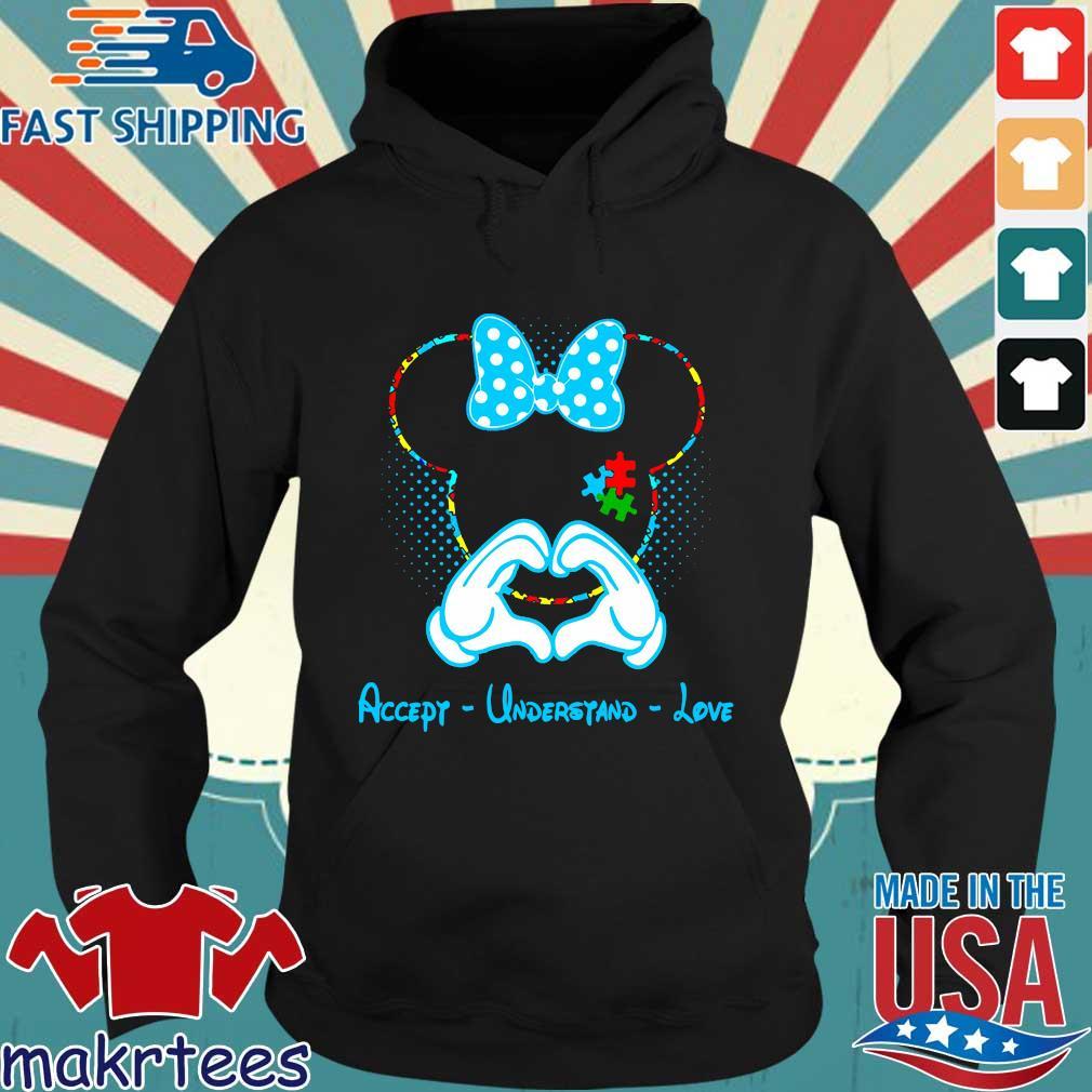 Autism Minnie Mouse love accept understand love Hoodie den