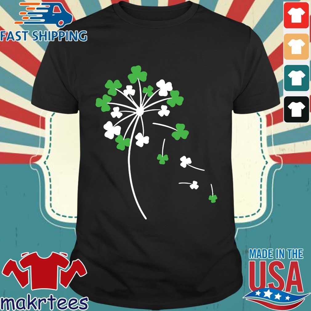Dandelion shamrock St Patricks Day shirt