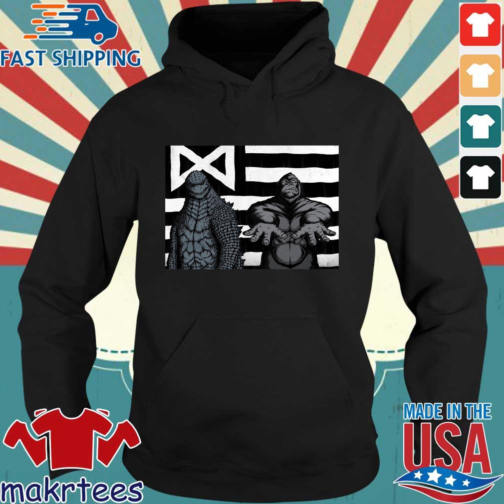 Godzilla And King Kong American Flag Shirt Hoodie den