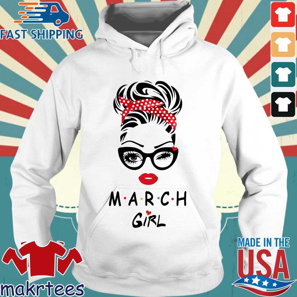 March Girl Face Wink Eye 2021 Shirt Hoodie trang