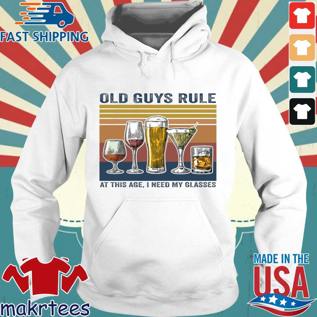 Old guys rule at this age I need my glasses vintage Hoodie trang