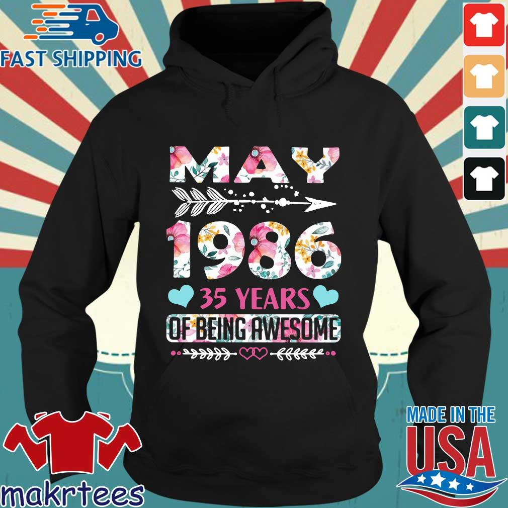 May 1986 35 years of being awesome flower Hoodie den