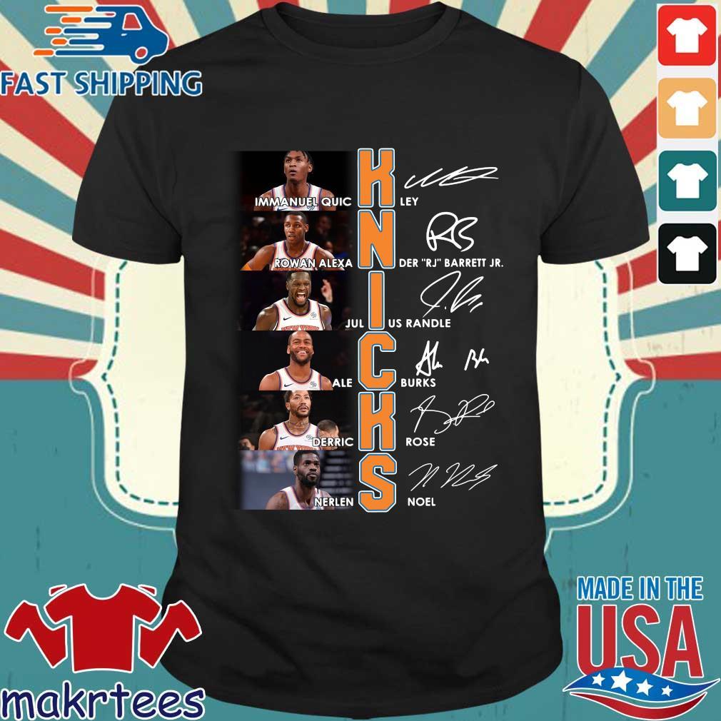 New York Knicks Team Player Signatures Shirt