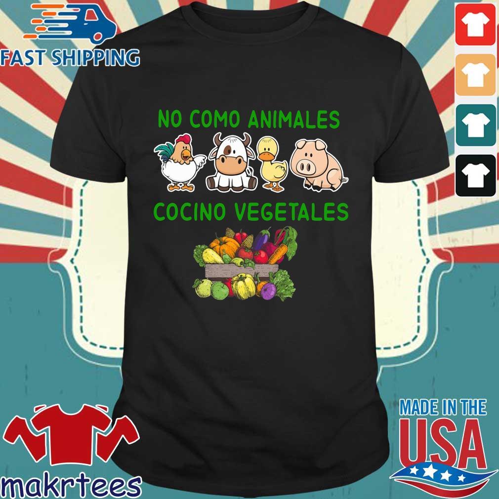 No como animales cocino vegetales shirt