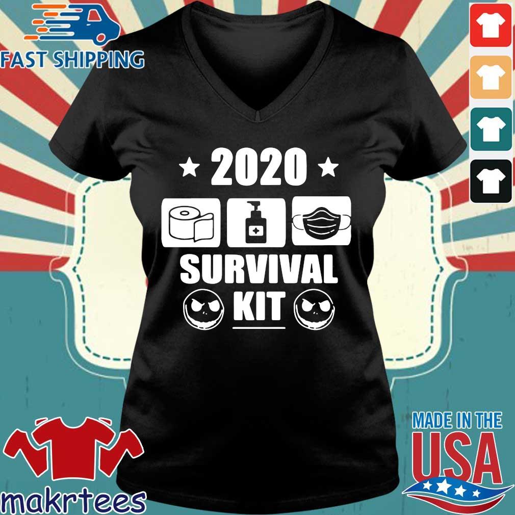 2020 Survival Kit Shirt Ladies V-neck den