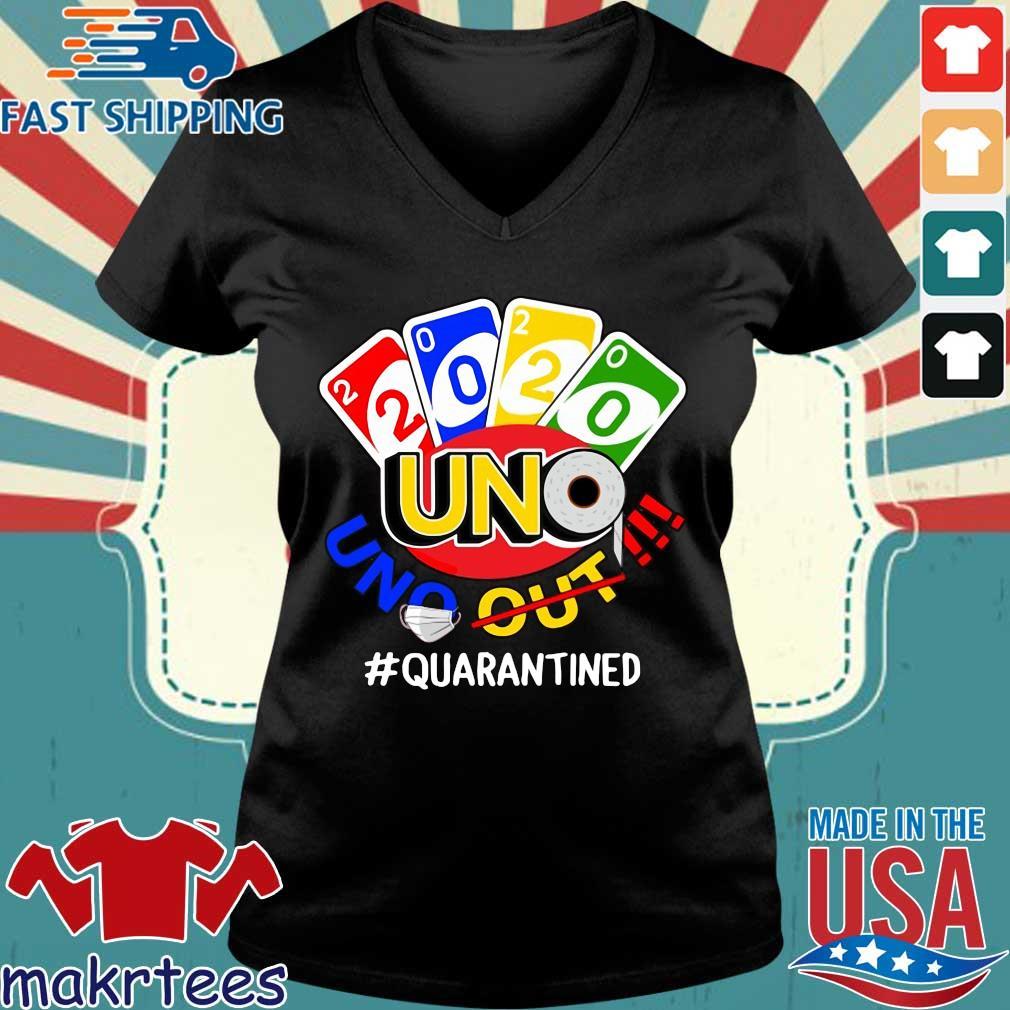 2020 Uno Quarantined Shirt Ladies V-neck den