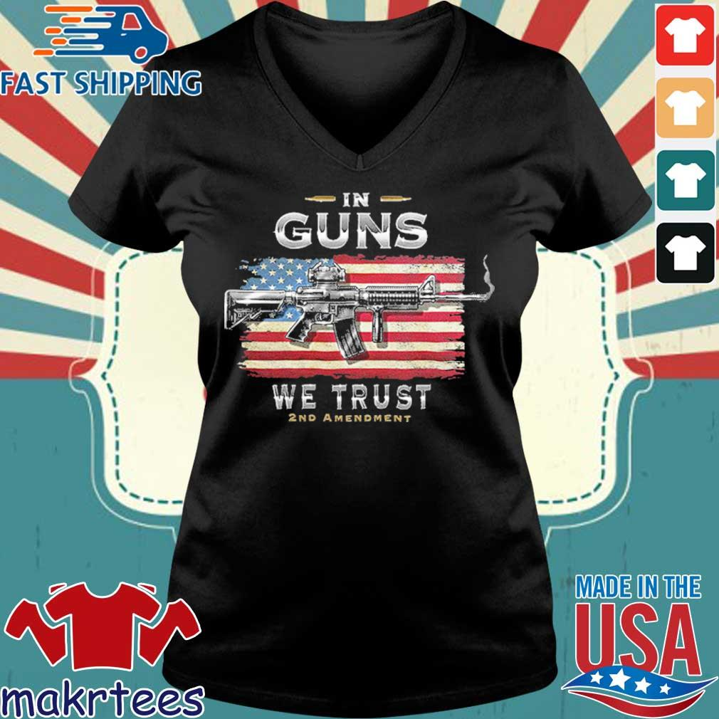2nd Amendment In Guns We Trust Rn2457sw Shirt Ladies V-neck den