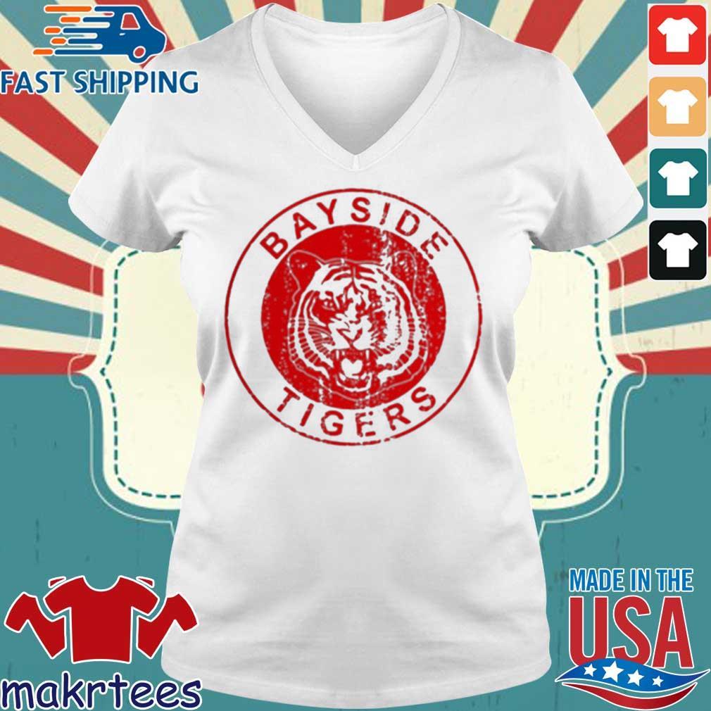 Bayside Tigers Shirt Ladies V-neck trang