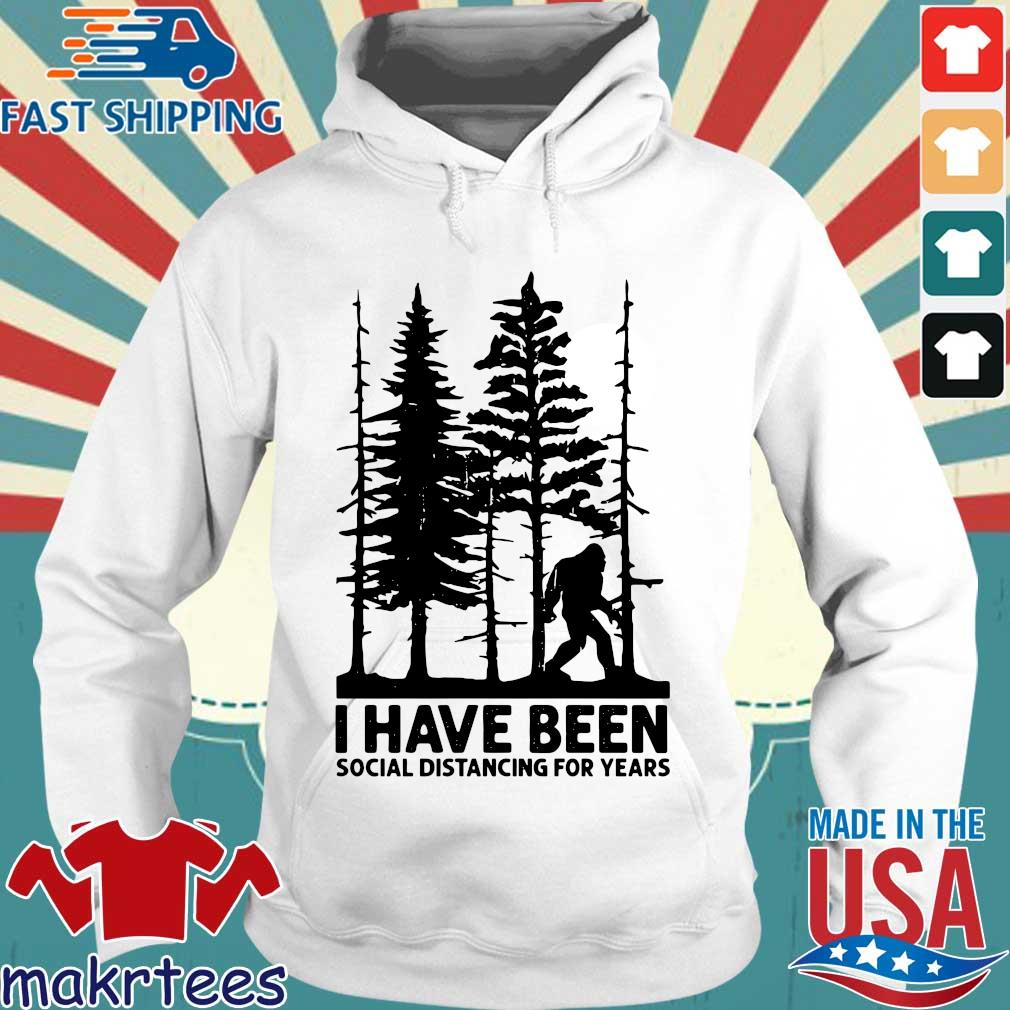 Bigfoot I have been social distancing for years s Hoodie trang