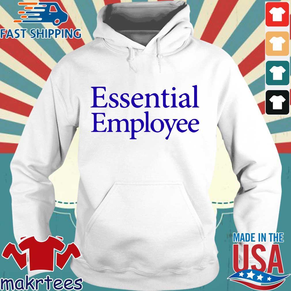 Essential Employee Blue Shirt Hoodie trang