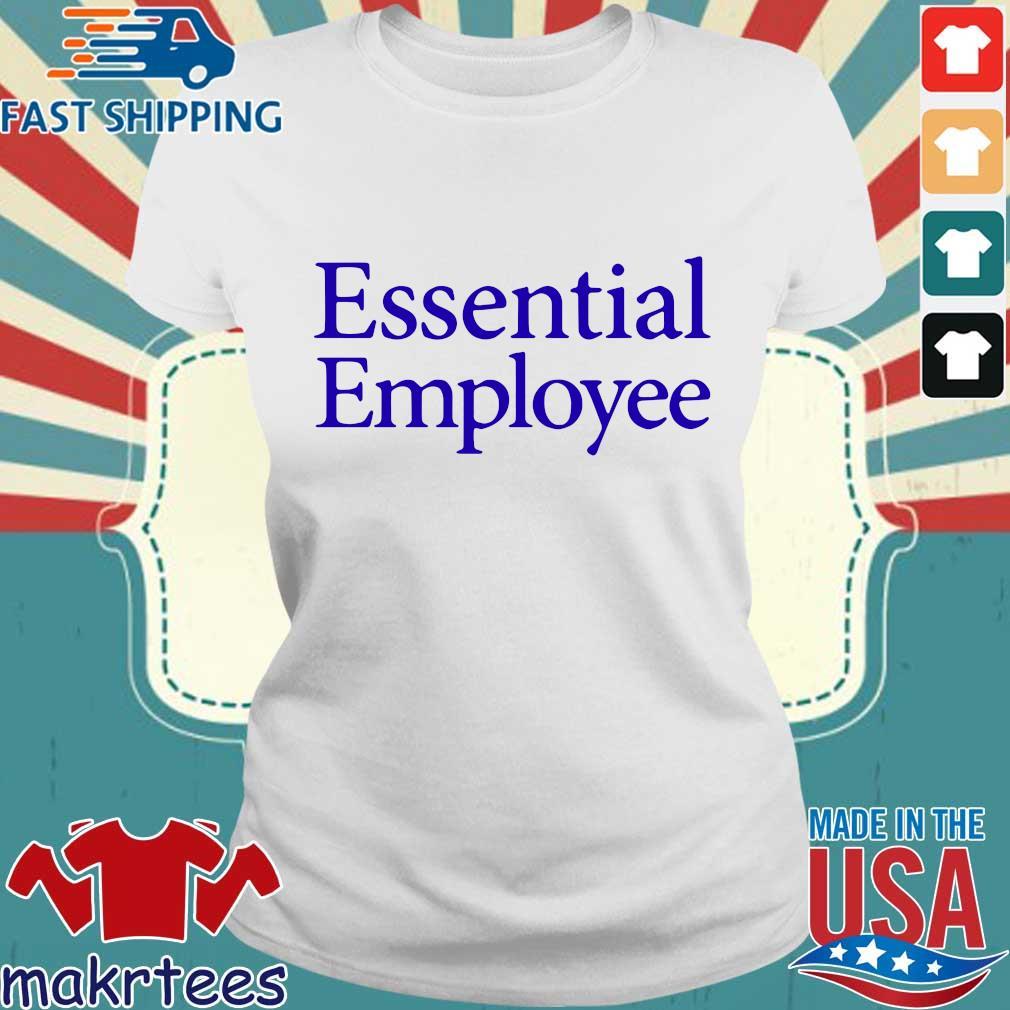 Essential Employee Blue Shirt Ladies trang