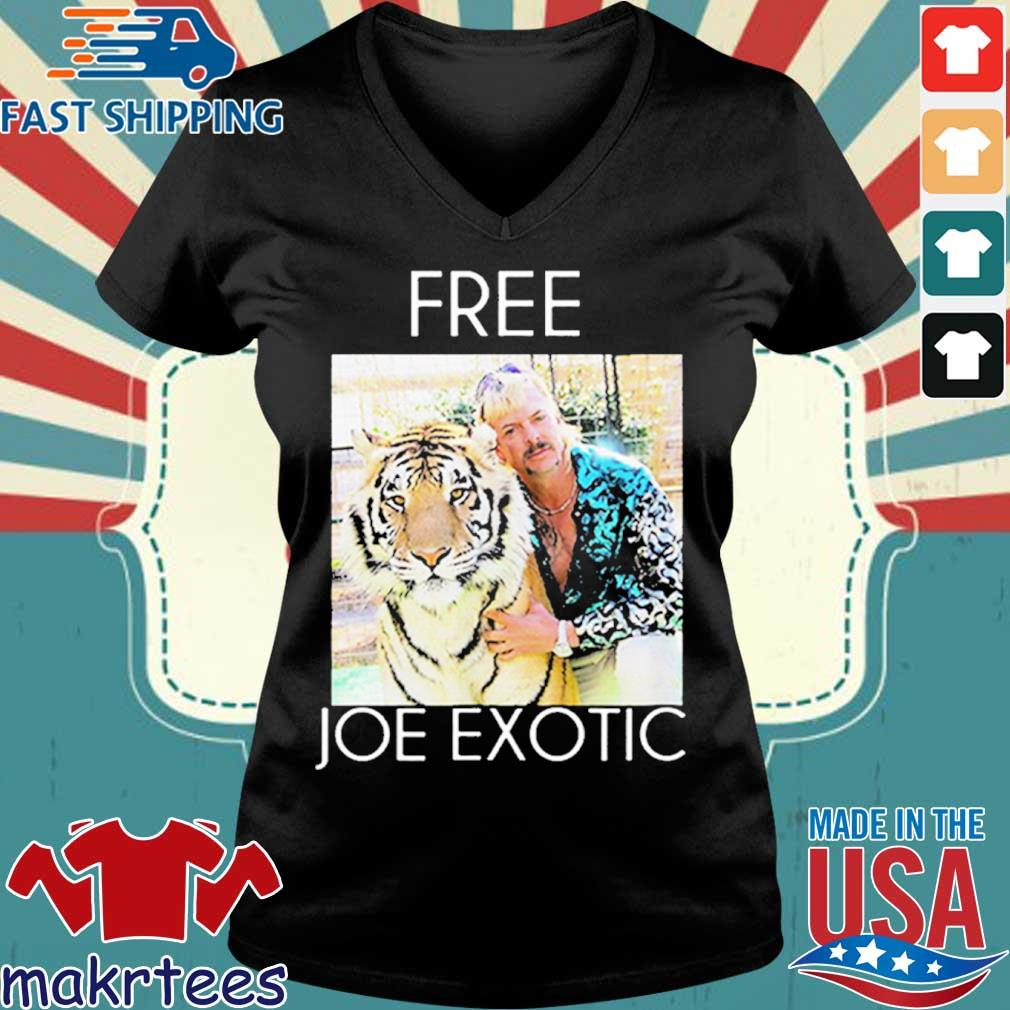 Free Joe Exotic Tiger King Premium Shirt Ladies V-neck den