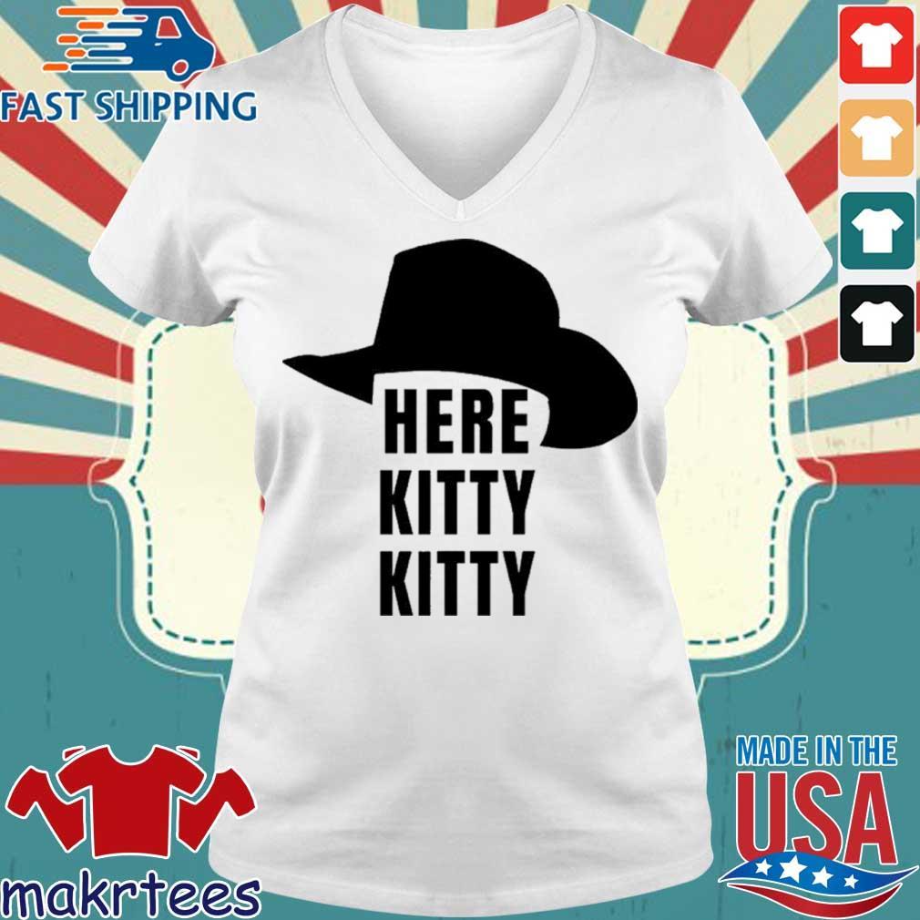 Here Kitty Kitt Joe Exotic Tiger King Shirt Ladies V-neck trang