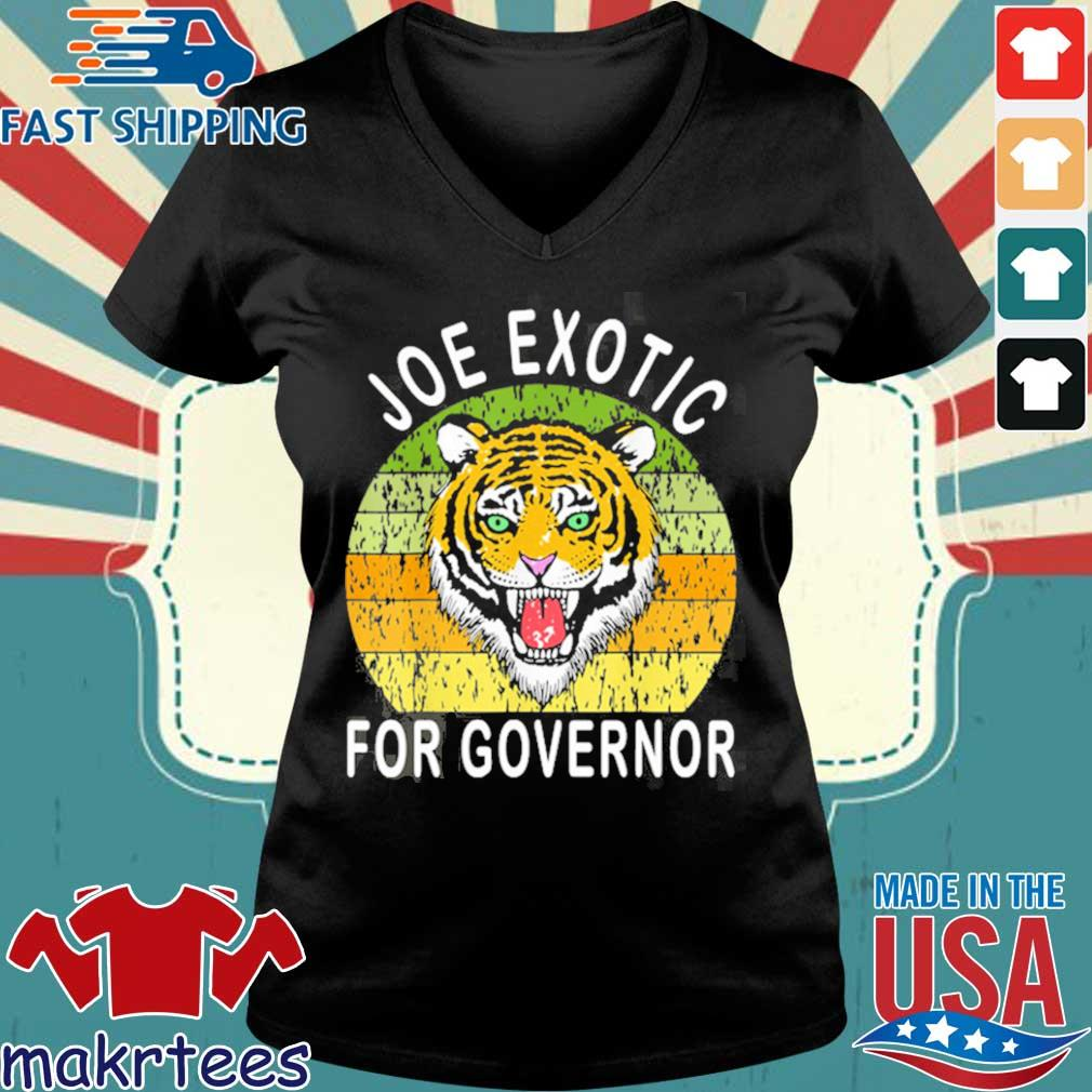 Joe Exotic For Governor 2020 Shirt Ladies V-neck den