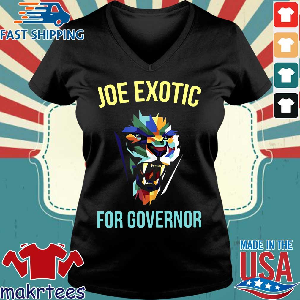 Joe Exotic For Governor Colorful For Shirt Ladies V-neck den