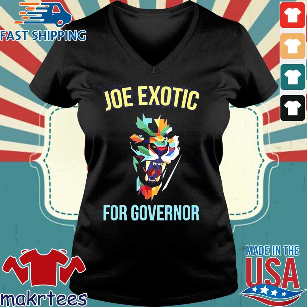 Joe Exotic For Governor Colorful Shirt Ladies V-neck den