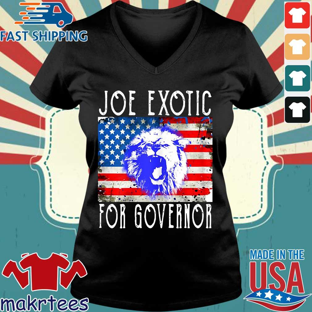 Joe Exotic For Governor Flag T-Shirt Ladies V-neck den