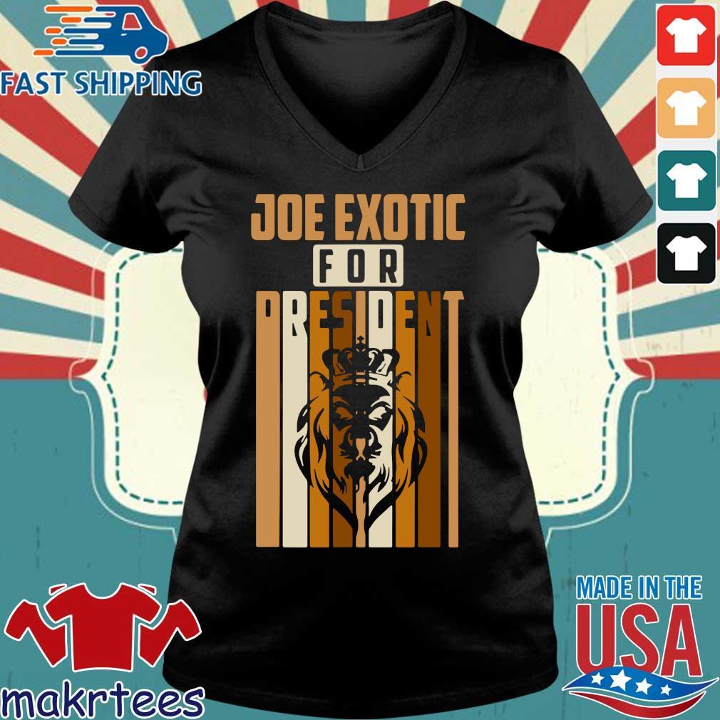 Joe Exotic For President Governor Shirt Ladies V-neck den