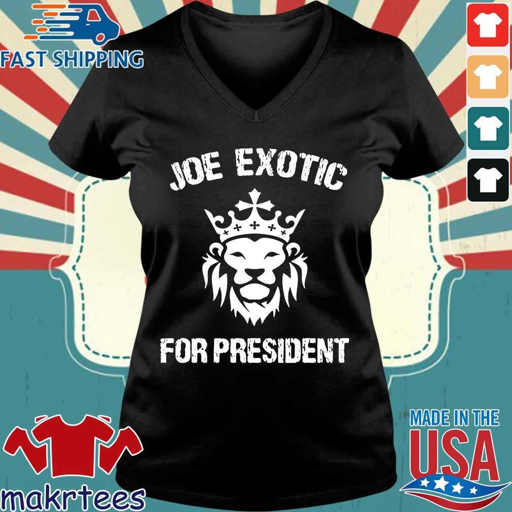 Joe Exotic For President US Shirt Ladies V-neck den