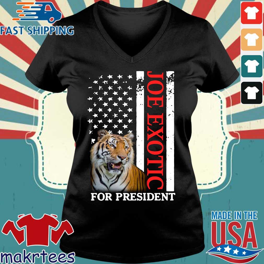 Joe Exotic Tiger King For President Shirt Ladies V-neck den