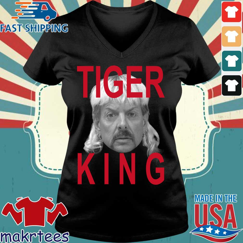 Joe Exotic Tiger King Official Shirt Ladies V-neck den