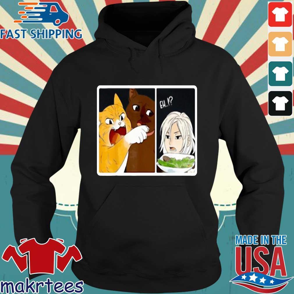 Madoka Yelling And Garfield Woman Cat Meme Shirt Makrtees