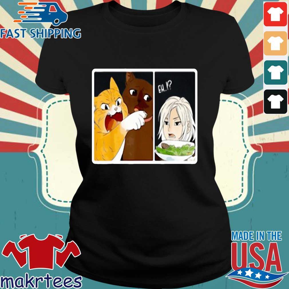 Madoka Yelling And Garfield Woman Cat Meme Shirt Ladies den
