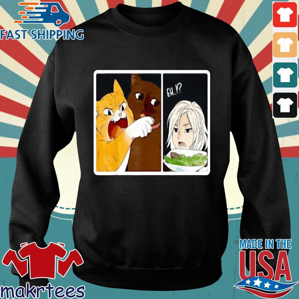 Madoka Yelling And Garfield Woman Cat Meme Shirt Sweater den