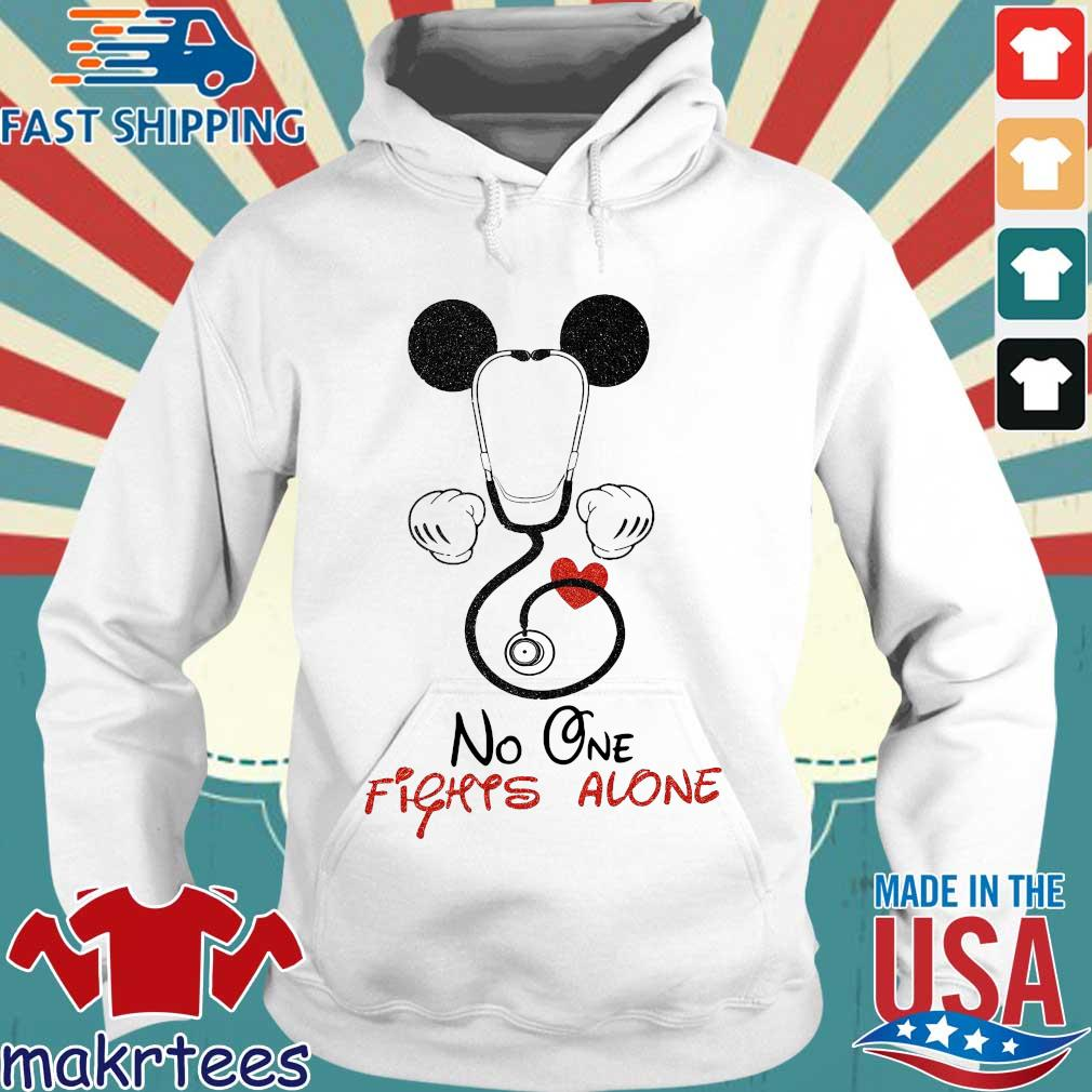 Mickey Mouse Fights Alone Shirt Hoodie trang