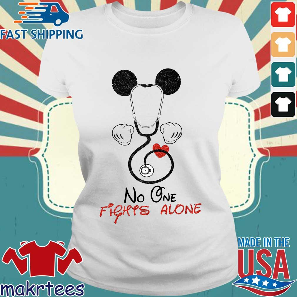 Mickey Mouse Fights Alone Shirt Ladies trang