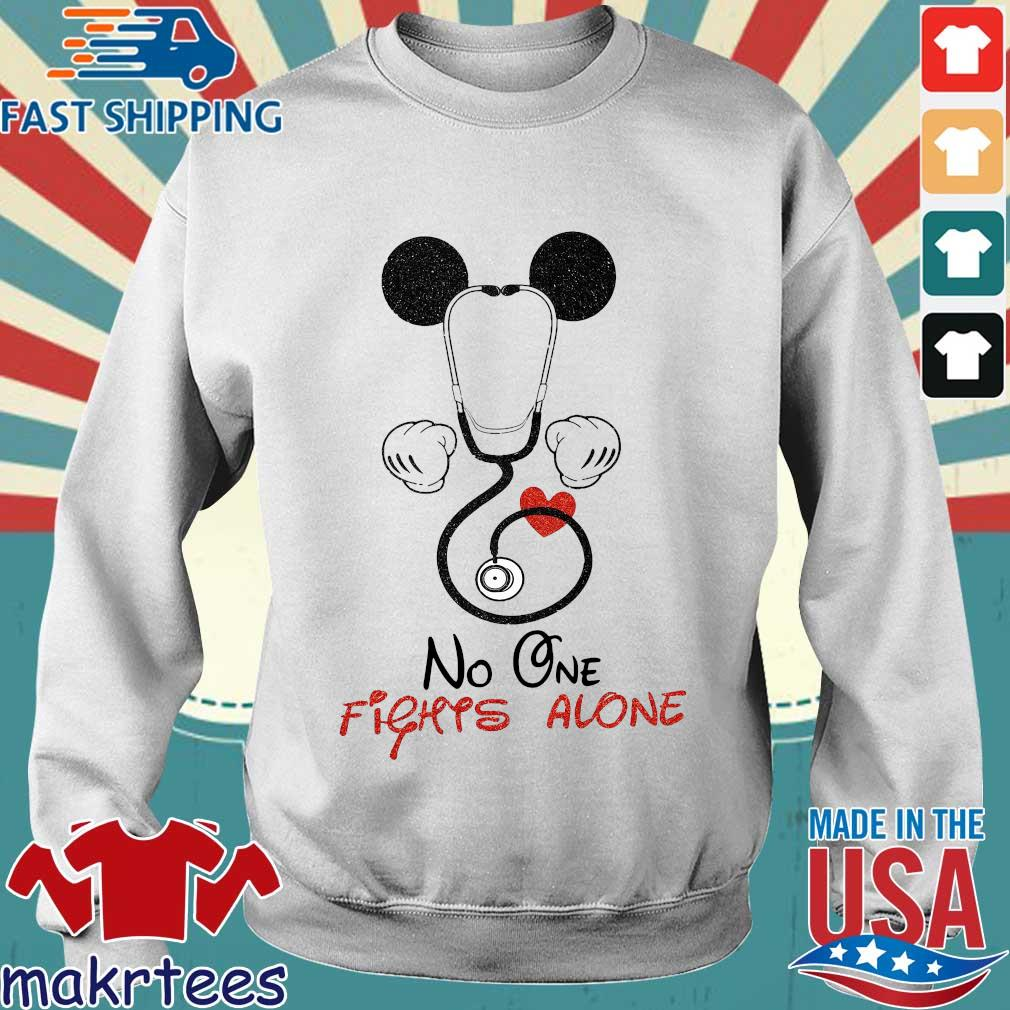Mickey Mouse Fights Alone Shirt Sweater trang