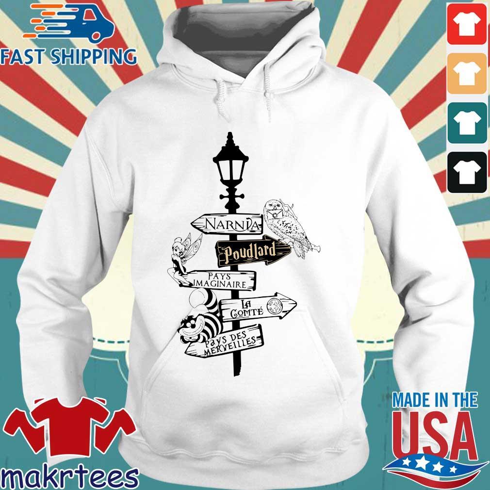 Narnia Poudlard Pays Imaginaire La Gomme Pays Des Merveilles s Hoodie trang