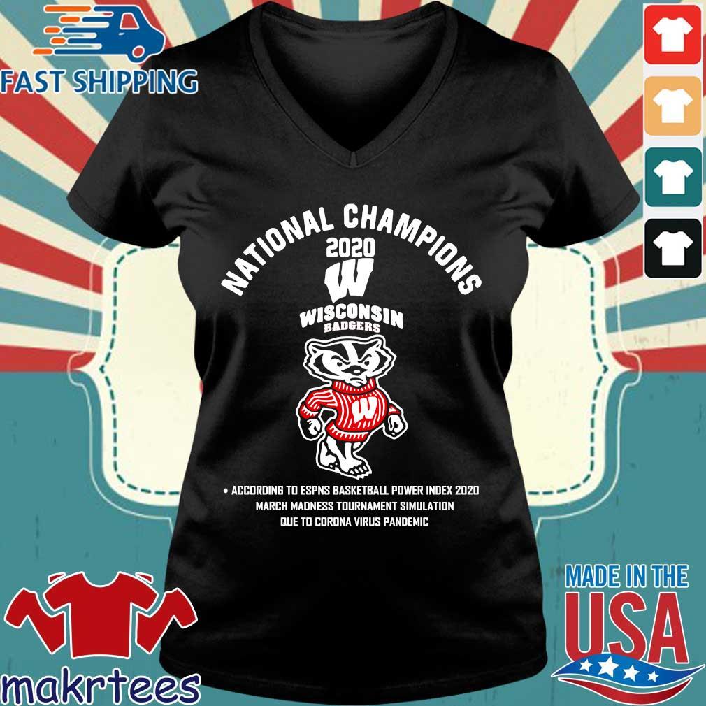 National Champions 2020 Wisconsin Badgers Shirt Ladies V-neck den