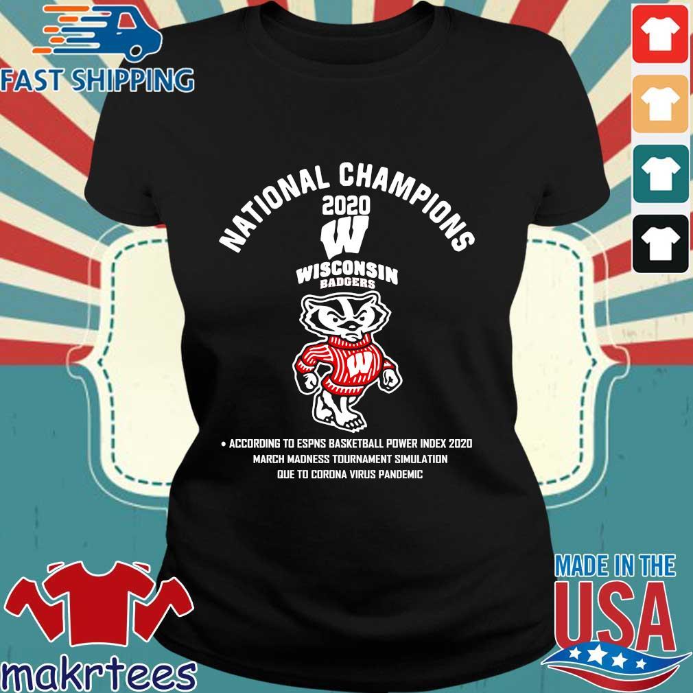 National Champions 2020 Wisconsin Badgers Shirt Ladies den