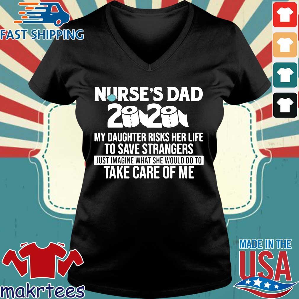 Nurse's Dad 2020 toilet paper s Ladies V-neck den