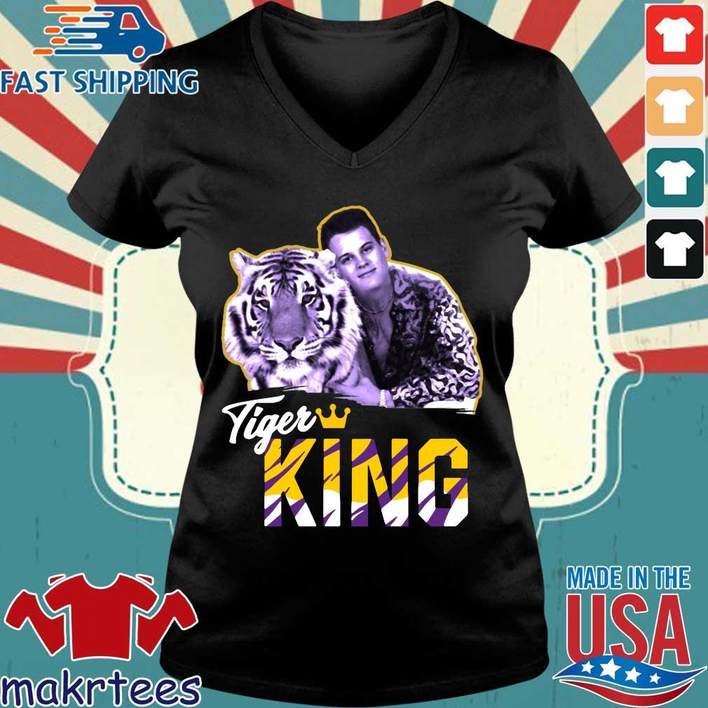 Official Joe EXOTIC Tigers King Shirt Ladies V-neck den