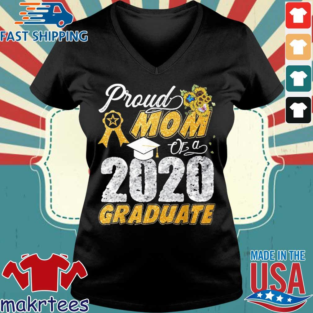 Proud Mom Of A 2020 Graduate Shirt Ladies V-neck den