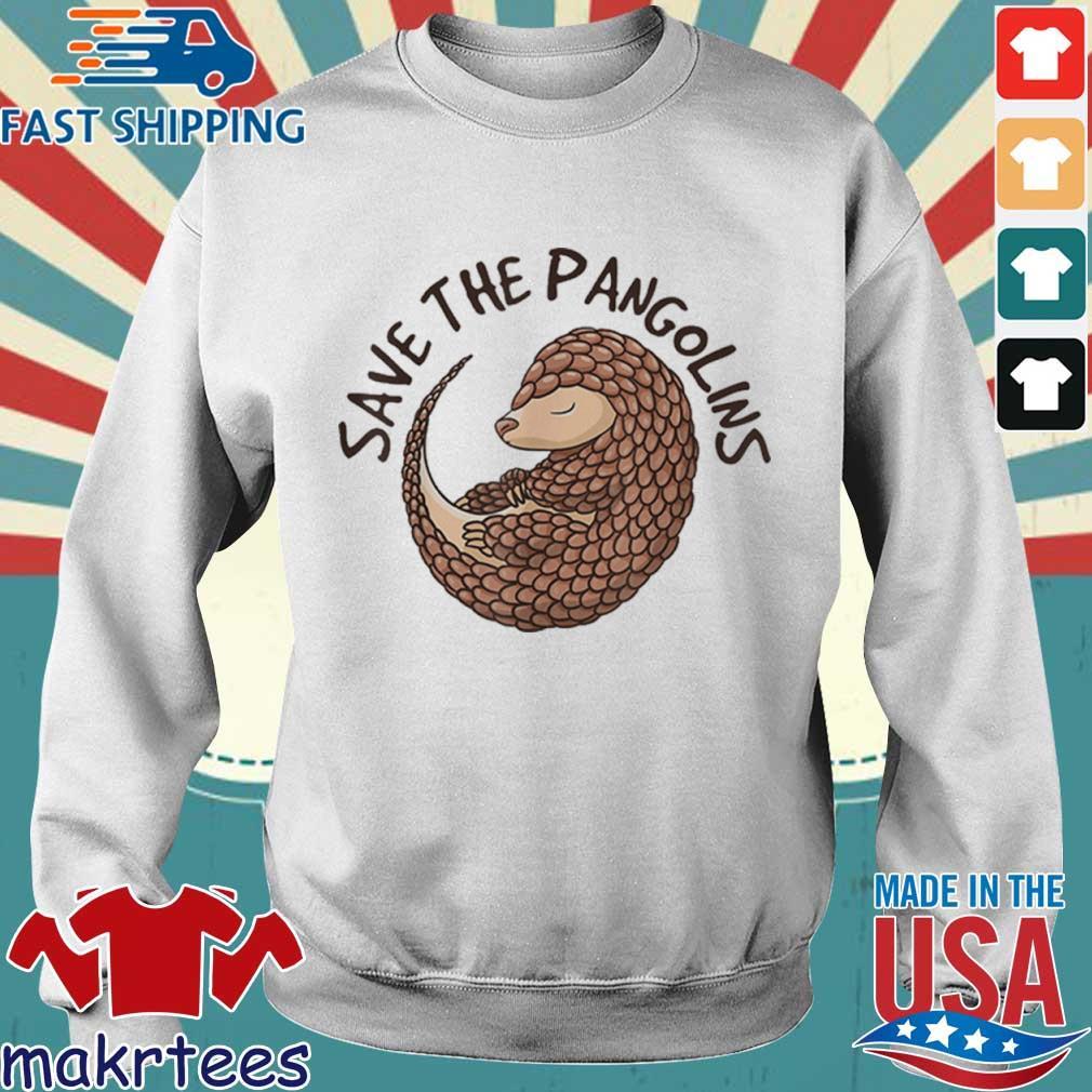 Save The Pangolins Funny Cute Animal Pangolin Shirt Sweater trang